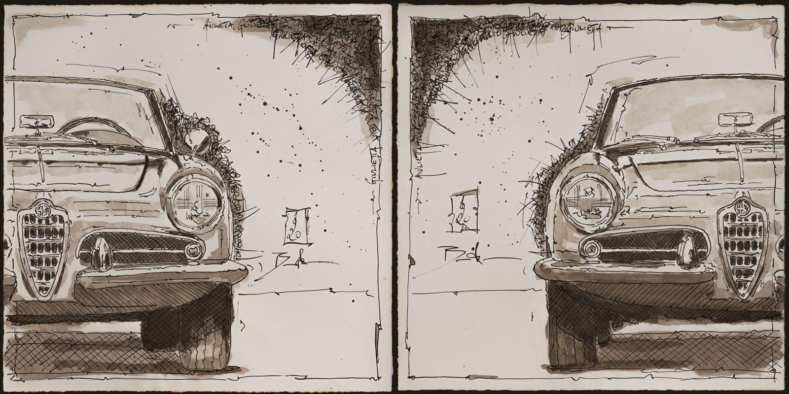 """Nun auch limitierte Künstlerdrucke meines """"Zweiseitig-Zyklus"""" in der originalen monochromen Farbgestaltung – die Mc2-Edition"""